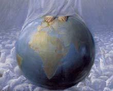 Los pies de La Señora sobre el mundo